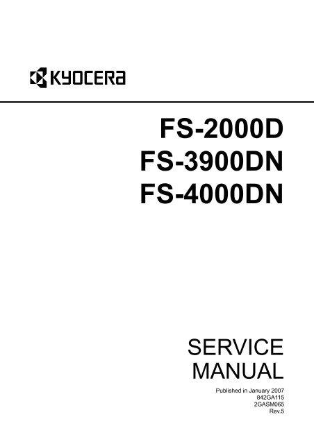 FS-2000D/3900DN/4000DN Service Manual - kyocera