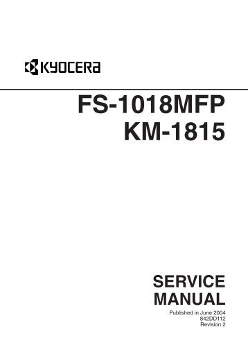 kyocera fs1030d service manual parts list