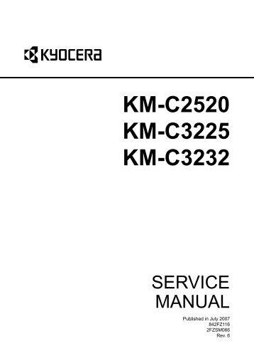 kyocera km c2520 c3225 c3232 service manual