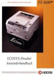 FS-1600+/FS-3600+ Anwenderhandbuch - Kyocera
