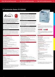 Technische Daten FS-C5016N - Kyocera
