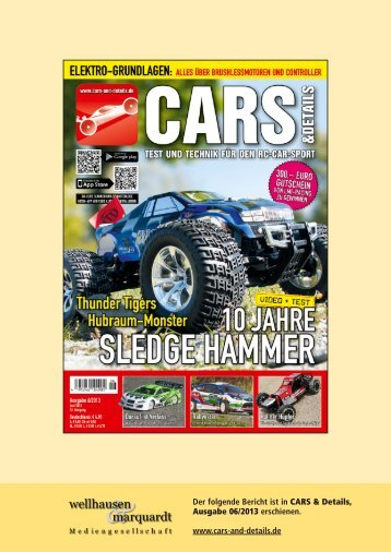 Bericht CARS & Details 06/13 - Kyosho
