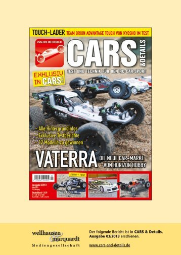 Bericht CARS & Details 03/13 - Kyosho