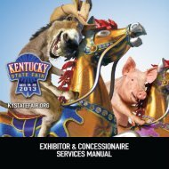 Exhibitor Manual - Kentucky State Fair