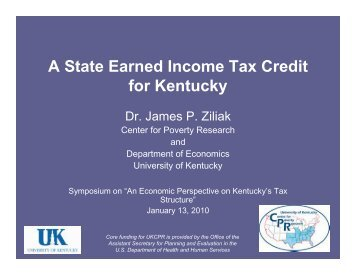 A State Earned Income Tax Credit for Kentucky