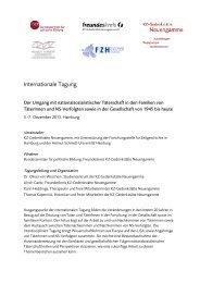 Internationale Tagung - KZ-Gedenkstätte Neuengamme