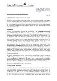 Elternbrief vom 28. Mai 2009 - Kaspar-Zeuß-Gymnasium Kronach