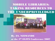 mobile libraries - KwaZulu-Natal Department of Education