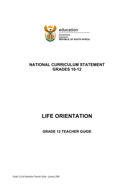 Life Orientation Grade 12 Question Papers And Memos
