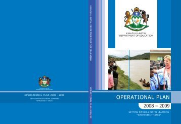 OPERATIONAL PLAN - KwaZulu-Natal Department of Education