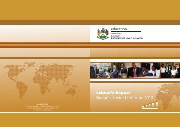 School's Report 2012 National Senior Certificate (NSC) Examination