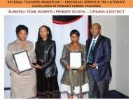 National Teaching Awards 2011- Provincial Winner in the category ...
