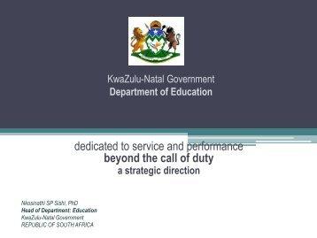 Educational Measurement, Assessment and Public ... - KZN Education