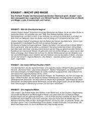KRABAT – MACHT UND MAGIE - Kantonsschule Zürcher Oberland