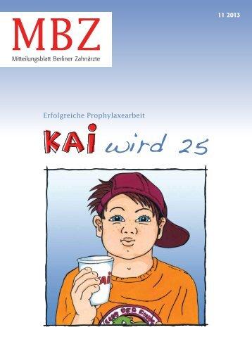 MBZ Ausgabe 11/2013 - Zahnärztekammer Berlin