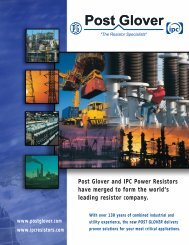 Post glover and ipc power resistors have merged to form the