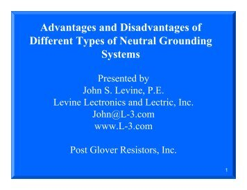 Advantages and Disadvantages of Different Types of Neutral ...