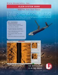 L-3 Klein System 3000H Digital Side Scan Sonar (Click here for PDF)