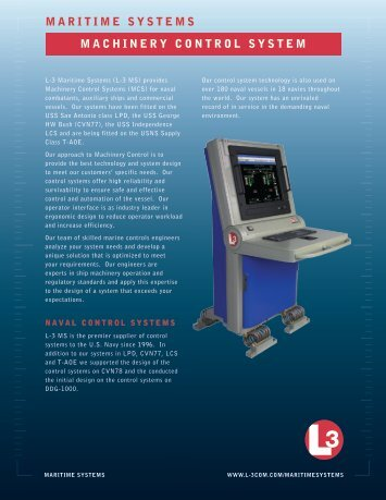 Maritime Systems - L-3 Marine & Power Systems