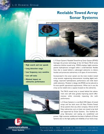 to see data sheet. - L-3 Marine & Power Systems