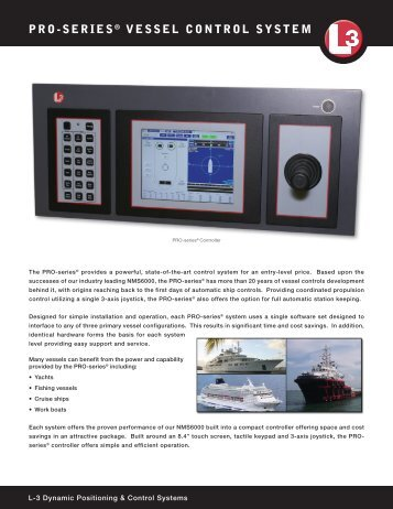 110630 PRO-series.indd - L-3 Marine & Power Systems