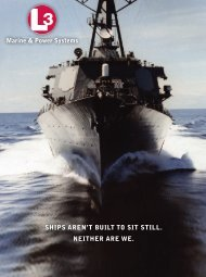 Marine & Power Systems SHIPS AREN'T BUILT TO SIT STILL ...