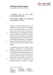 04.05.2006 Presseinformation 06 Nr.08, PDF (71 kB ) 2 ... - L-Bank