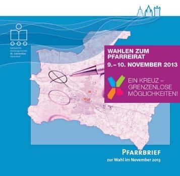 Pfarrbrief Pfarreiratswahl St. Laurentius 2013