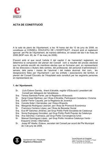 Acta-constitució 2 - Ajuntament de L´Hospitalet