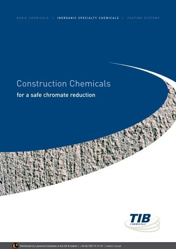 TiB Brochure - Construction Chemicals - Lawrence Industries