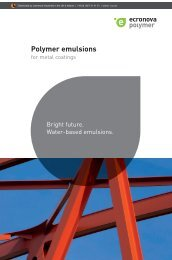 Polymer emulsions for metal coatings