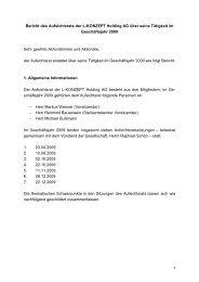 1 Bericht des Aufsichtsrats der L-KONZEPT Holding AG über seine ...