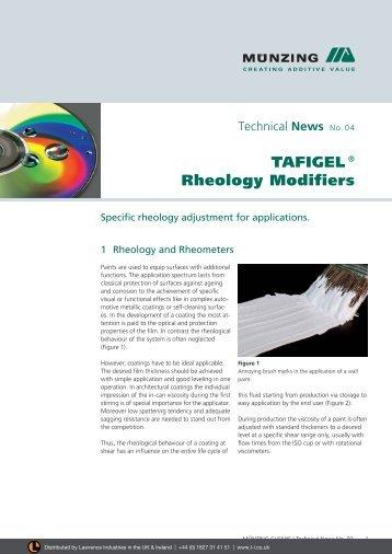 TAFIGEL ® Rheology Modifiers - Lawrence Industries