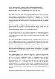 Bericht des Vorstands der L-KONZEPT Holding AG an die ...
