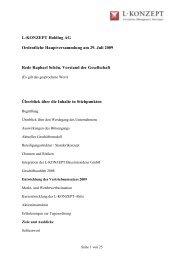 L-KONZEPT Holding AG Ordentliche Hauptversammlung am 29. Juli ...