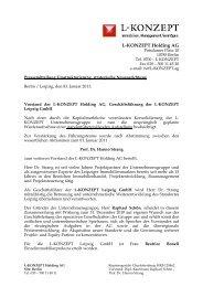 Pressemitteilung LK Holding AG Strategie + GL 01-11 - L-KONZEPT ...