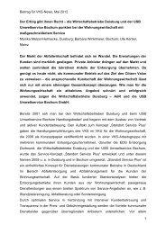 Beitrag für VKS-News, Mai 2012 1 Der Erfolg gibt ihnen Recht – die ...