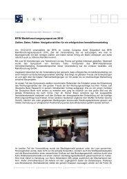 Rückblick BFW-Symposium - L·Q·M Marktforschung