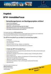 BFW ImmobilienFocus 2010 - L·Q·M Marktforschung