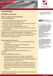 Kundenbefragung KUNDENFocus Gewerbe - L·Q·M Marktforschung