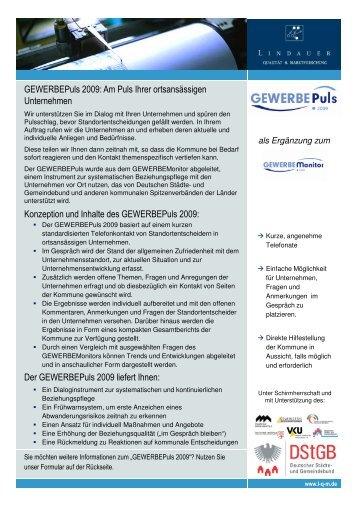 Produktblatt_GEWERBEPuls 2009 - L·Q·M Marktforschung