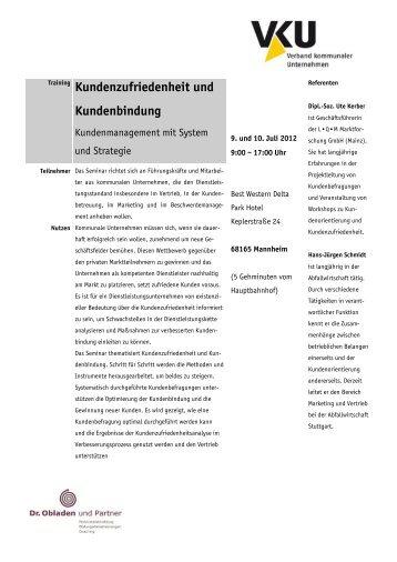10. Juli 2012 Seminar Kundenzufriedenheit und Kundenbindung