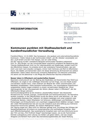 Rückblick Symposium - L·Q·M Marktforschung