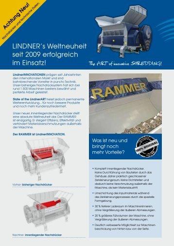 LINDNER's Weltneuheit seit 2009 erfolgreich im Einsatz!