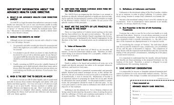 AHCD Brochure - the Archdiocese of Los Angeles