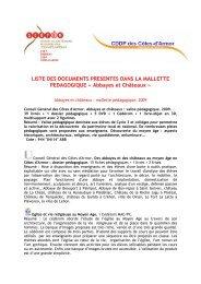 Téléchargez le contenu de la malle pédagogique - Château de la ...