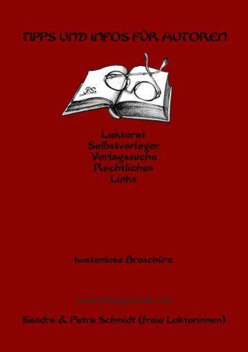 Tipps und Infos für Autoren (1. Auflage 2014)