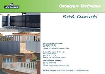 Catalogue Technique Portails Coulissants - La Toulousaine