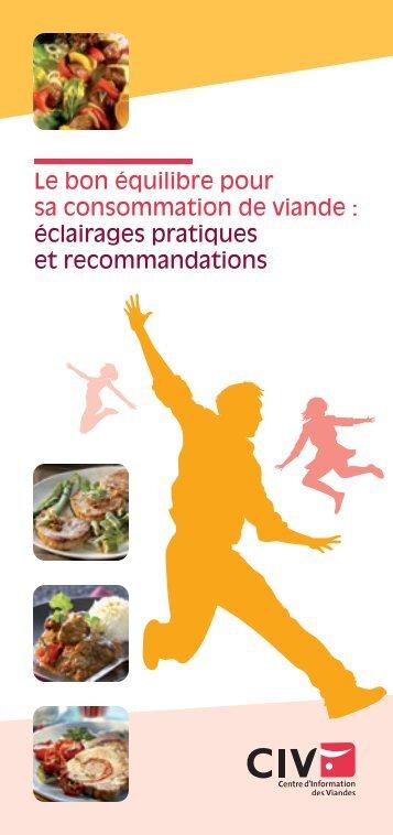 Le bon équilibre pour sa consommation de viande ... - La-viande.fr