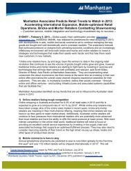 Manhattan Associates Predicts Retail Trends to Watch in 2013 ...